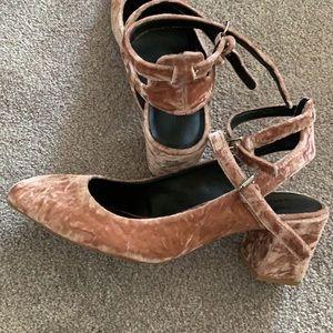 Rebecca Minkoff Pink Velvet Shoes